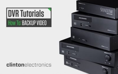 How to Backup Recorded Video on your Clinton DVR
