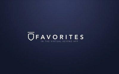 Virtual Keypad App – Favorites