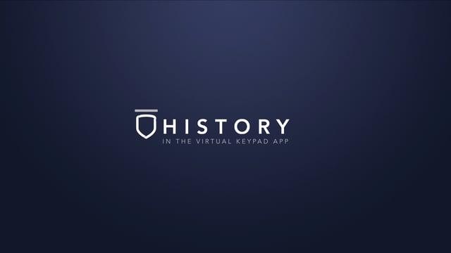 Virtual Keypad App – History