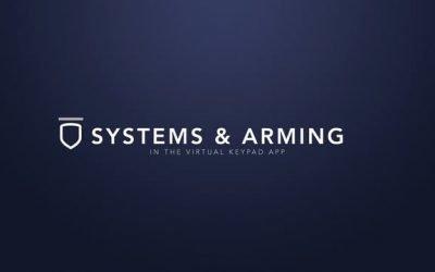 Virtual Keypad App – System & Arming