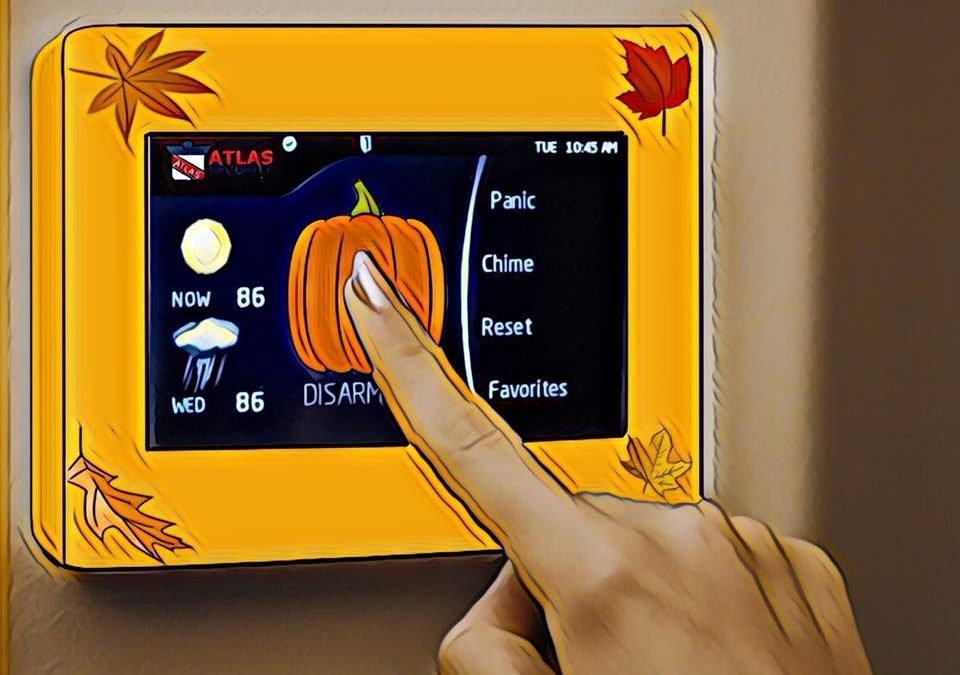 Pumpkin Spice Touchscreen Keypads