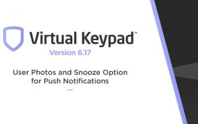 Virtual Keypad App Adds User Photos and Snooze Option for Push Notifications