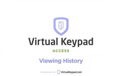 Virtual Keypad Access – Viewing History
