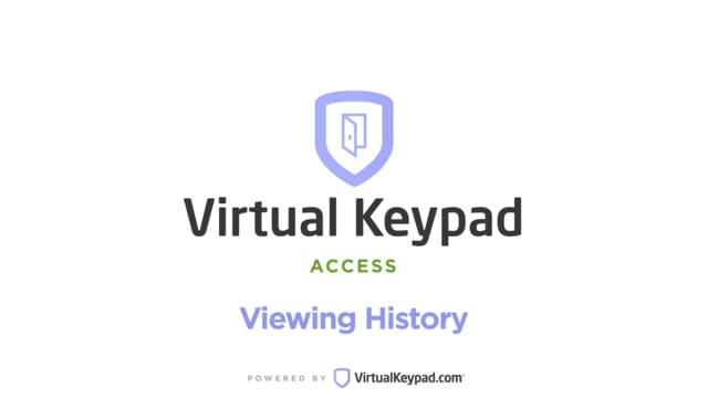Virtual Keypad App: History Page