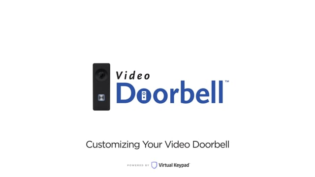 Virtual Keypad – Customizing Your Video Doorbell